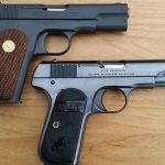 Colt Model 1903 Pocket Hammerless comparison mouse guns