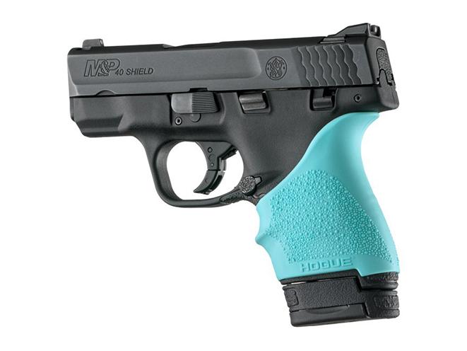 hogue aqua blue grips for S&W M&P Shield