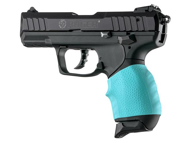hogue aqua blue grips for handall jr
