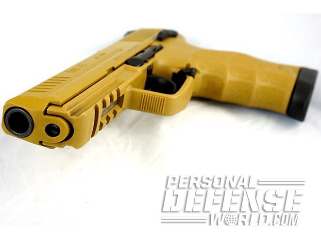 Heckler & Koch HK45 45 acp pistol yellow