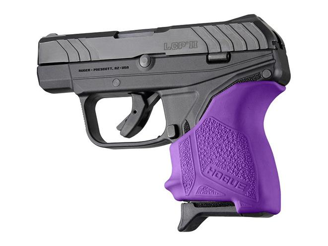 hogue purple ruger lcp ii grip sleeve