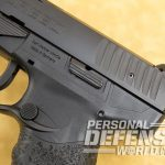 Walther Creed pistol rear serrations