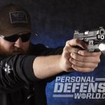 Wilson Combat EDC X9 pistol aiming