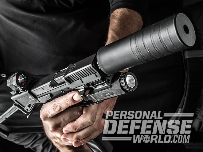B&T USW pistol carbine silencer