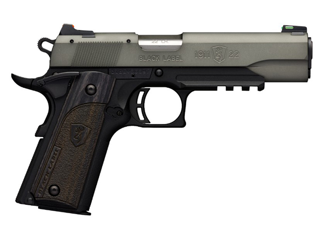 Browning Black Label 1911-22 Gray pistol full size with rail