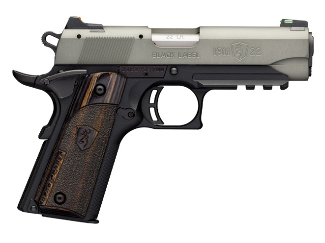 Browning Black Label 1911-22 Gray pistol compact with rail