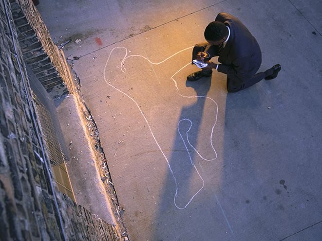 deadly force chalk outline