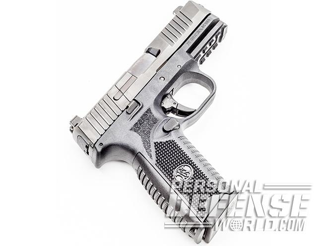 FN 509 pistol right angle