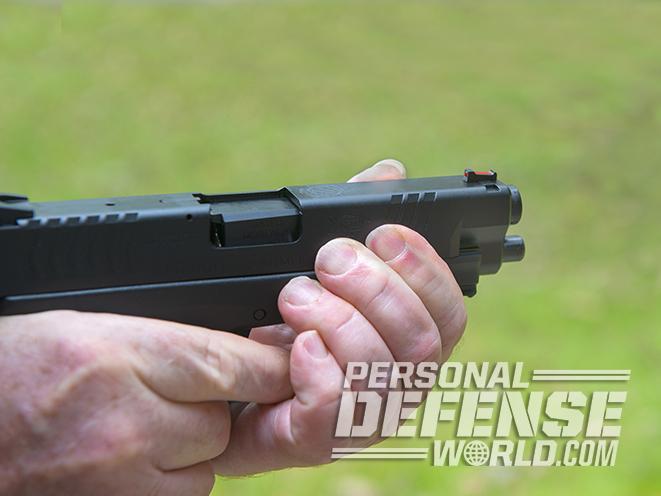 slide rack gun handling