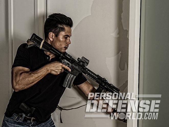 home defense door opening