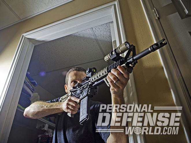 home defense carbine rifle aiming
