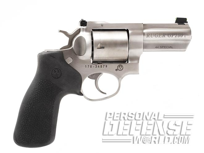 Ruger GP100 revolver right profile