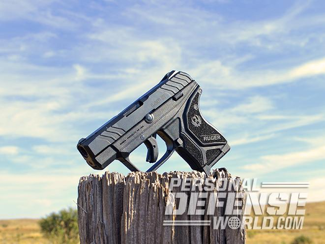 Ruger LCP II pistol right ANGLE sun