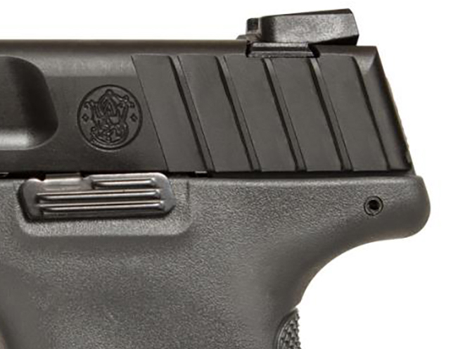 Smith & Wesson SD Gray Frame pistol rear sight