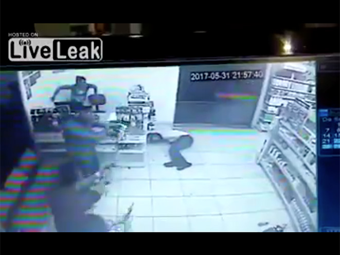 brazilian armed robber