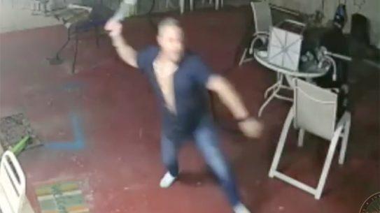 florida homeowner machete