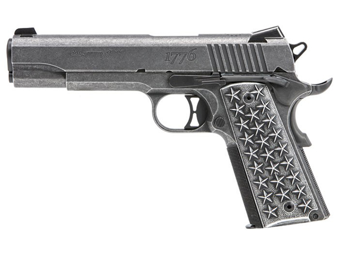 Sig Sauer 1911 We The People pistol left profile