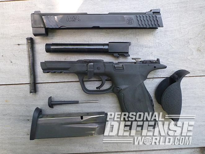 Smith & Wesson M&P45 Threaded Barrel Kit disassembled