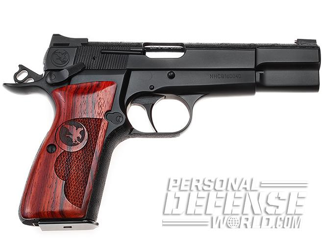 nighthawk browning hi-power gunsite 250 pistol left profile