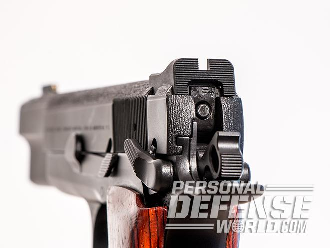 nighthawk browning hi-power gunsite 250 pistol rear sight