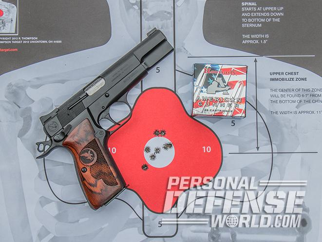 nighthawk browning hi-power gunsite 250 pistol target