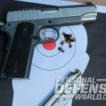 Ruger SR1911 Lightweight Commander 9mm pistol grouping