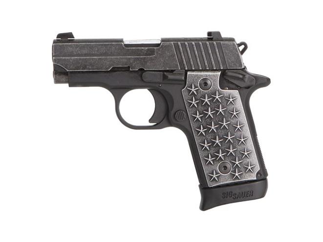 Sig Sauer P238 We The People pistol left profile