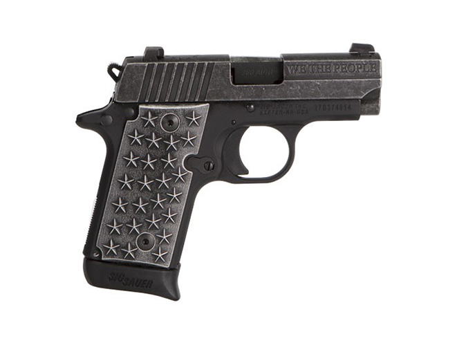 Sig Sauer P238 We The People pistol right profile