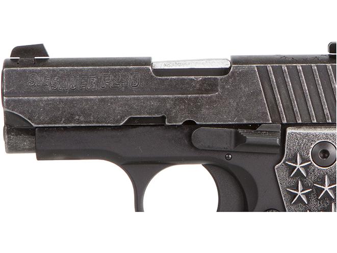 Sig Sauer P238 We The People pistol slide
