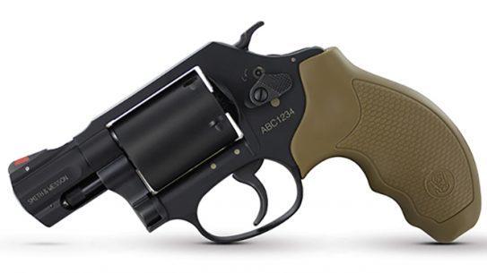 Smith & Wesson Model 360 357 Magnum revolver left profile