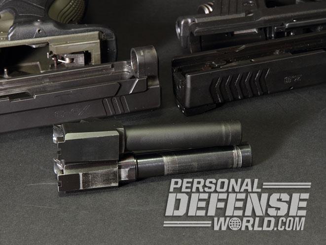 Springfield XD pistol barrel comparison