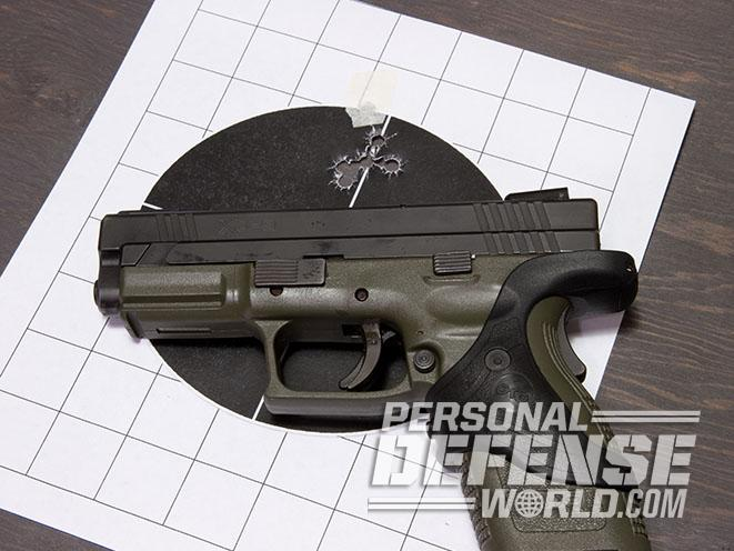 Springfield XD pistol target