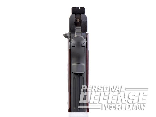 STI Nitro 10mm pistol rear sight