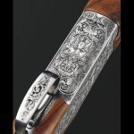 Browning B15 Beauchamp shotgun stock closeup