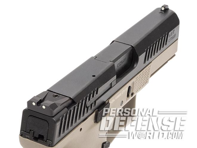 CZ P-10 C FDE pistol slide