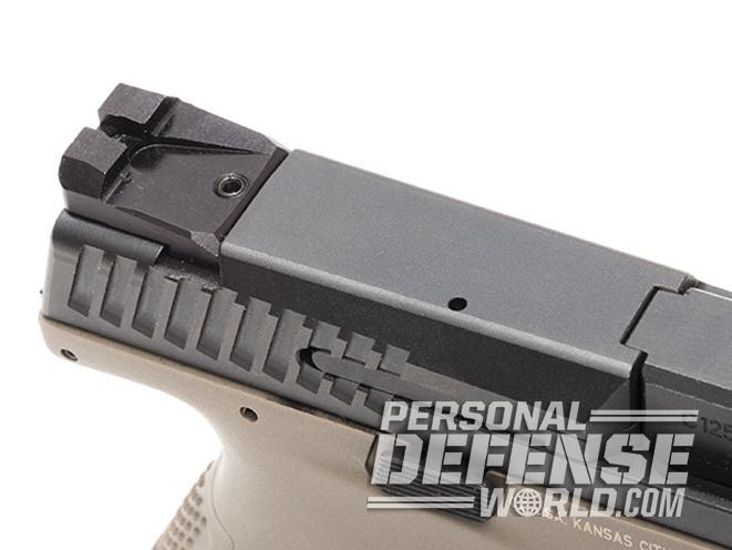CZ P-10 C FDE pistol rear sight