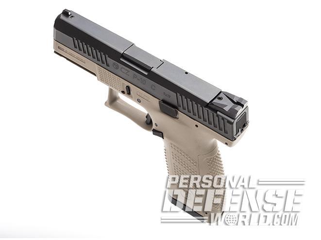CZ P-10 C FDE pistol left angle