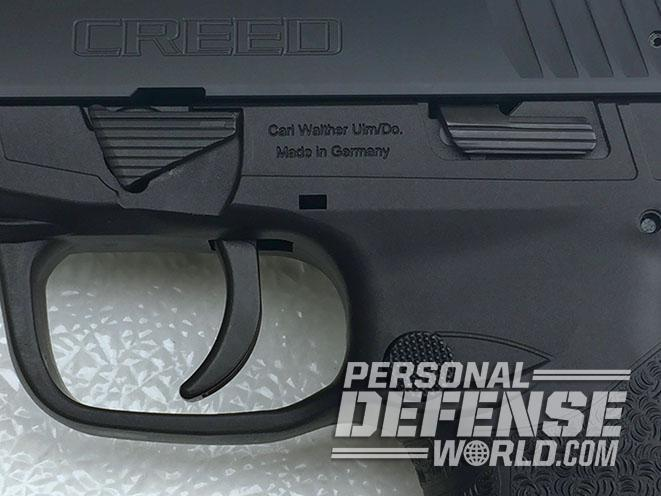 Walther Creed pistol slide release
