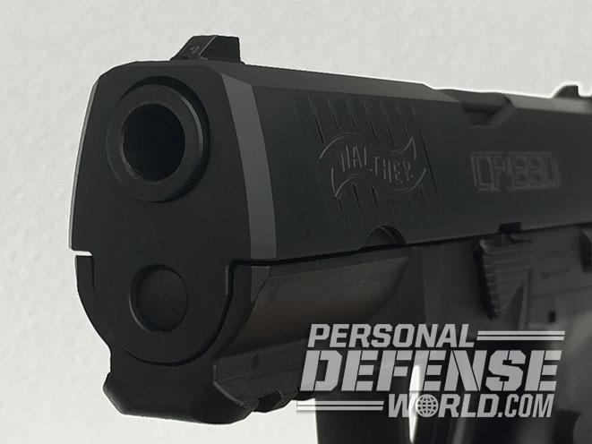 Walther Creed pistol slide beveled