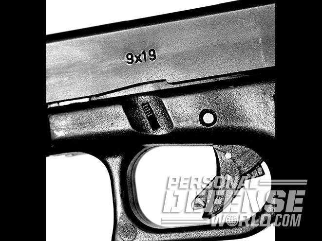 Glock 17 pistol frame