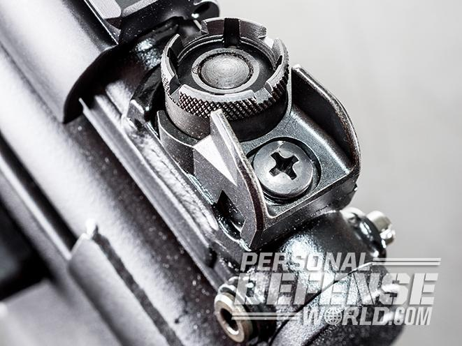 HK SP5K pistol rear sight