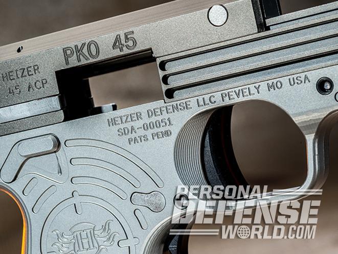 Heizer Defense PKO-45 pistol ejection port