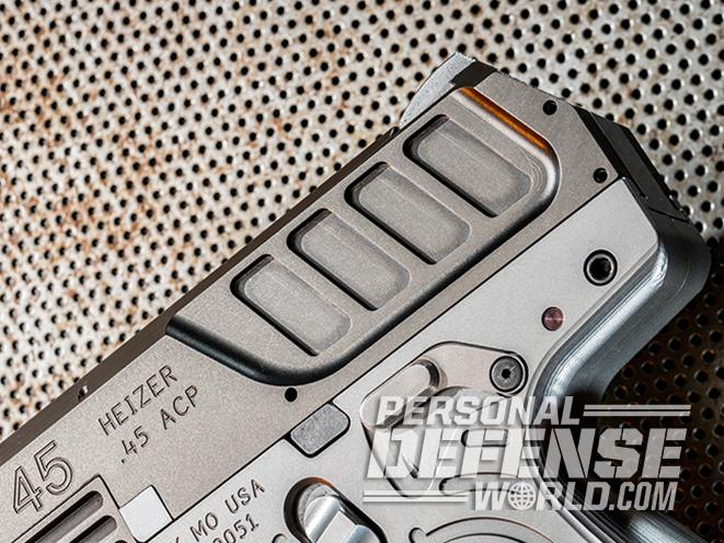 Heizer Defense PKO-45 pistol serrations