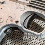 Heizer Defense PKO-45 pistol trigger angle