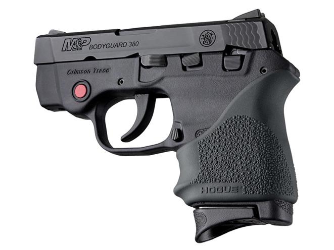 black Hogue HandALL beavertail grip for s&w bodyguard 380