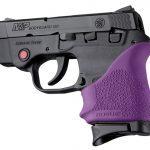 purple Hogue HandALL beavertail grip for s&w bodyguard 380