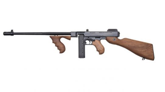 Thompson 9mm tommy gun left profile
