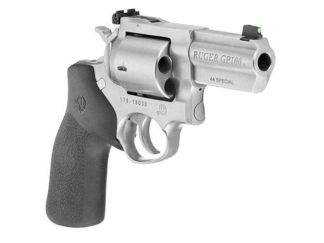 Ruger GP100 .44 Special revolver right angle