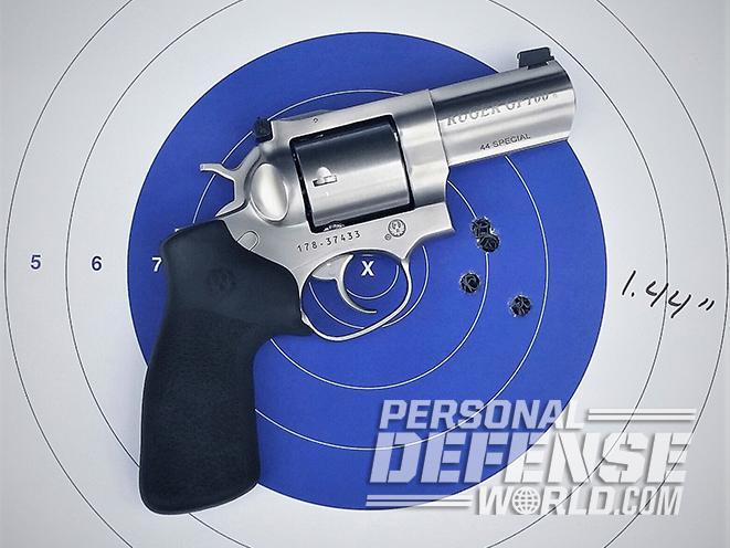 Ruger GP100 .44 Special revolver target