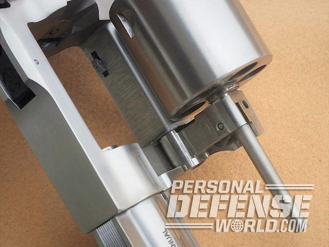 Ruger GP100 .44 Special revolver empty
